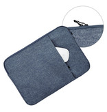 Lunso Stijlvolle zachte sleeve hoes Blauw met neopreen bescherming voor 13 inch laptops