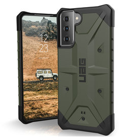 Urban Armor Gear UAG - Pathfinder backcover hoes - Samsung Galaxy S21 - Groen + Lunso Tempered Glass