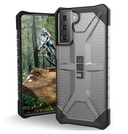 Urban Armor Gear UAG - Plasma backcover hoes - Samsung Galaxy S21 - Zilver + Lunso Tempered Glass
