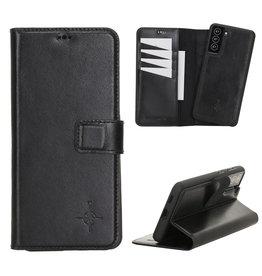 NorthLife NorthLife - Uitneembare 2-in-1 (RFID) bookcase hoes - Samsung Galaxy S21 Plus - Burcht Trecht Zwart