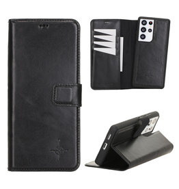 NorthLife NorthLife - Uitneembare 2-in-1 (RFID) bookcase hoes - Samsung Galaxy S21 Ultra - Burcht Trecht Zwart