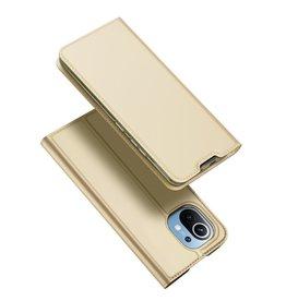 Dux Ducis Dux Ducis - Pro Serie Slim wallet hoes - Xiaomi Mi 11 -  Goud