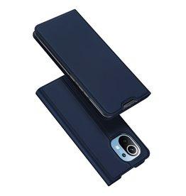 Dux Ducis Dux Ducis - Pro Serie Slim wallet hoes - Xiaomi Mi 11 -  Blauw