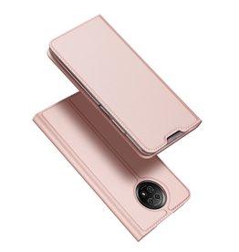Dux Ducis Dux Ducis - Pro Serie Slim wallet hoes - Xiaomi Redmi Note 9 -  Roze goud