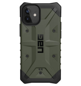 Urban Armor Gear UAG - Pathfinder backcover hoes - iPhone 12 Mini - Groen + Lunso Tempered Glass