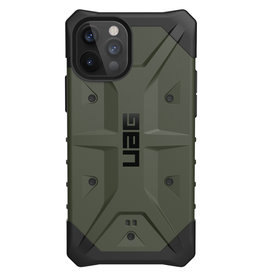 Urban Armor Gear UAG - Pathfinder backcover hoes - iPhone 12 / iPhone 12 Pro - Groen + Lunso Tempered Glass