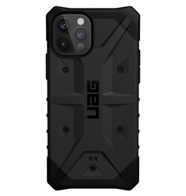 Urban Armor Gear UAG - Pathfinder backcover hoes - iPhone 12 / iPhone 12 Pro - Zwart + Lunso Tempered Glass