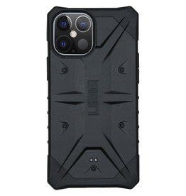 Urban Armor Gear UAG - Pathfinder backcover hoes - iPhone 12 Pro Max - Zwart + Lunso Tempered Glass