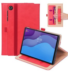 Lunso Luxe stand flip cover hoes - Lenovo Tab M10 HD Gen 2 (2e Generatie)- Rood