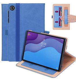 Lunso Luxe stand flip cover hoes - Lenovo Tab M10 HD Gen 2 (2e Generatie) - Blauw
