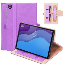 Lunso Luxe stand flip cover hoes - Lenovo Tab M10 HD Gen 2 (2e Generatie)- Paars