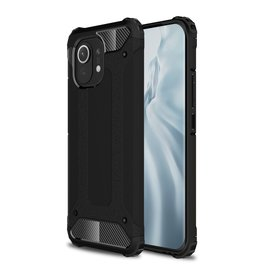 Lunso Lunso - Armor Guard backcover hoes - Xiaomi Mi 11 - Zwart