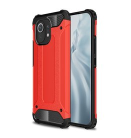 Lunso Lunso - Armor Guard backcover hoes - Xiaomi Mi 11 - Rood