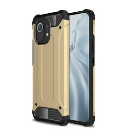 Lunso Lunso - Armor Guard backcover hoes - Xiaomi Mi 11 - Goud