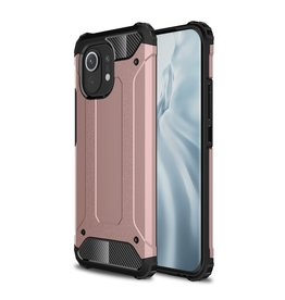 Lunso Lunso - Armor Guard backcover hoes - Xiaomi Mi 11 - Rose Goud