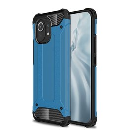 Lunso Lunso - Armor Guard backcover hoes - Xiaomi Mi 11 - Licht Blauw