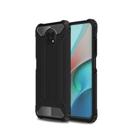 Lunso Lunso - Armor Guard backcover hoes - Xiaomi Redmi Note 9  - Zwart