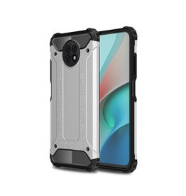 Lunso Lunso - Armor Guard backcover hoes - Xiaomi Redmi Note 9  - Zilver