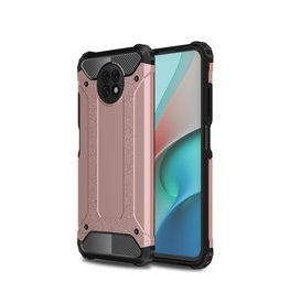 Lunso Lunso - Armor Guard backcover hoes - Xiaomi Redmi Note 9  - Rose Goud