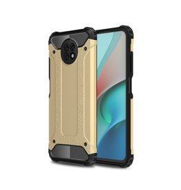 Lunso Lunso - Armor Guard backcover hoes - Xiaomi Redmi Note 9  - Goud