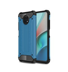 Lunso Lunso - Armor Guard backcover hoes - Xiaomi Redmi Note 9  - Licht Blauw