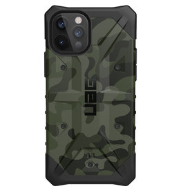 Urban Armor Gear UAG - Pathfinder backcover hoes - iPhone 12 / iPhone 12 Pro - Camouflage + Lunso Tempered Glass