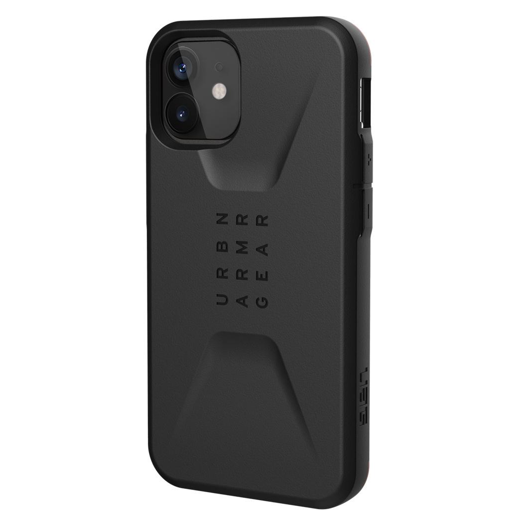 Urban Armor Gear Civilian backcover hoes Zwart voor de iPhone 12 Mini