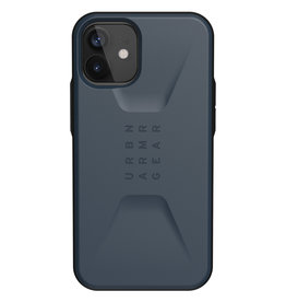 Urban Armor Gear UAG - Civilian backcover hoes - iPhone 12 Mini - Blauw + Lunso Tempered Glass