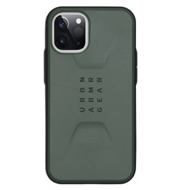 Urban Armor Gear UAG - Civilian backcover hoes - iPhone 12 Mini - Groen + Lunso Tempered Glass