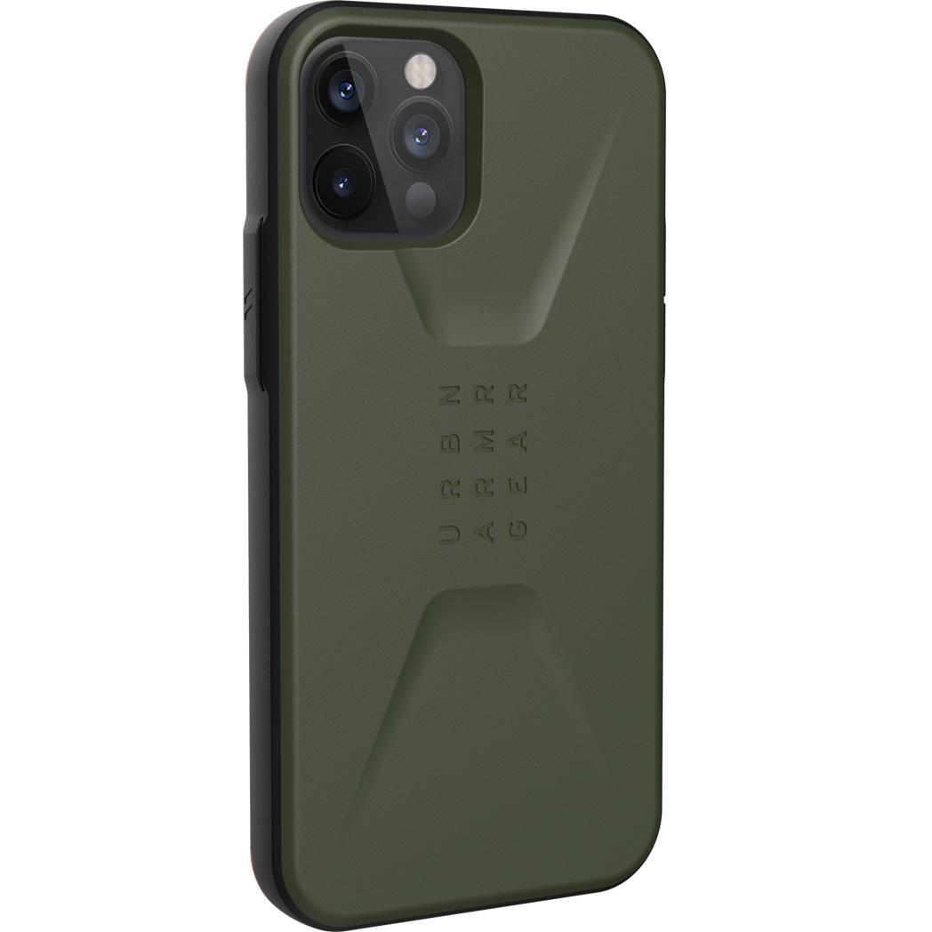 Urban Armor Gear Civilian backcover hoes Groen voor de iPhone 12 / iPhone 12 Pro