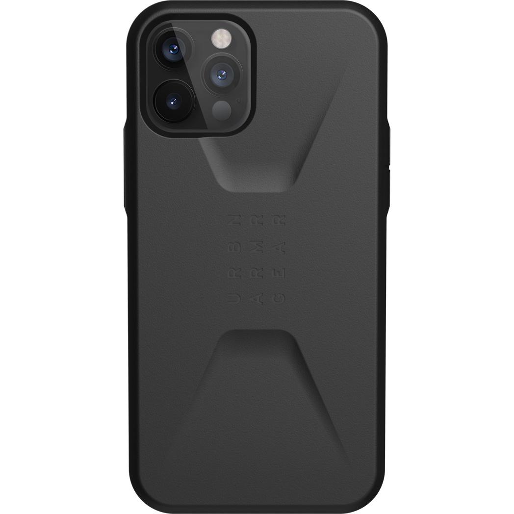 Urban Armor Gear Civilian backcover hoes Zwart voor de iPhone 12 / iPhone 12 Pro