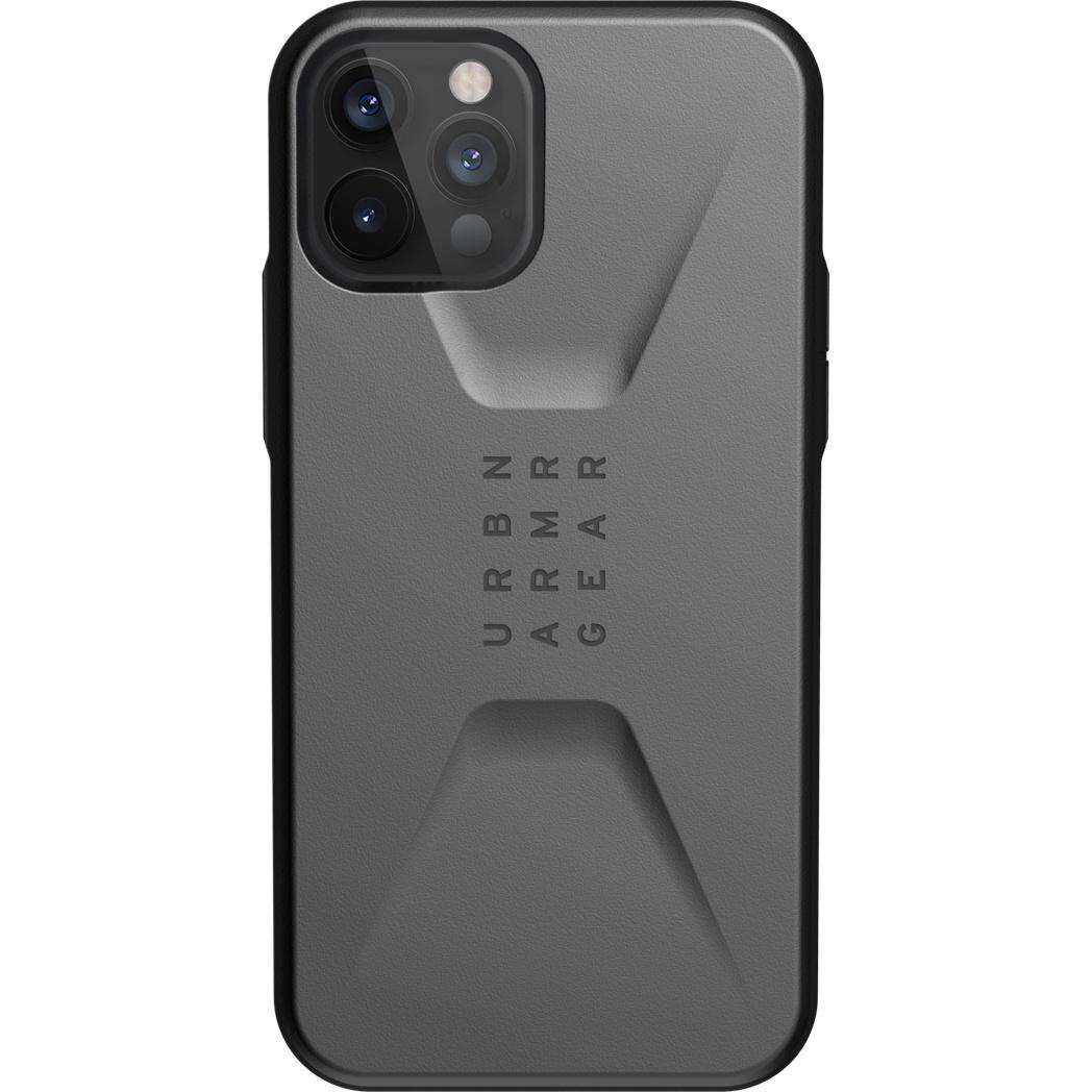Urban Armor Gear Civilian backcover hoes Zilver voor de iPhone 12 / iPhone 12 Pro