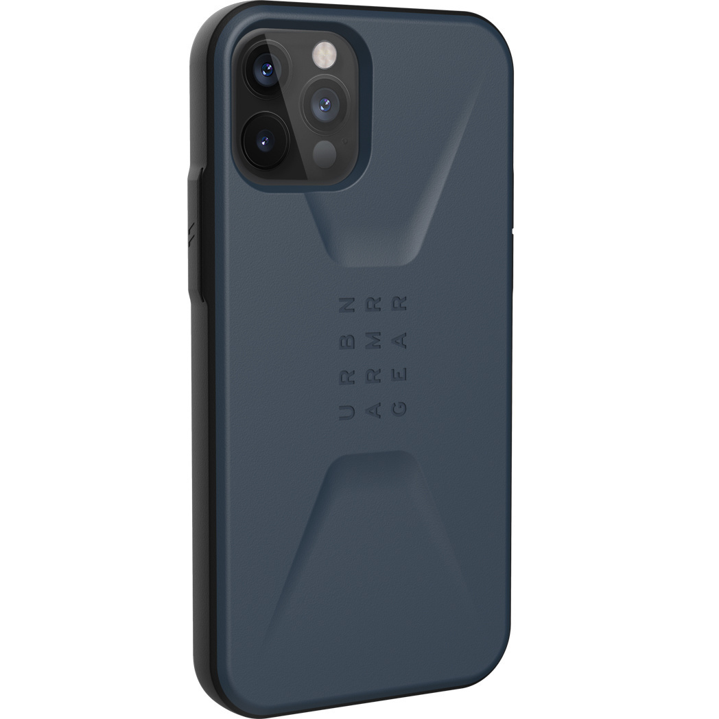Urban Armor Gear Civilian backcover hoes Blauw voor de iPhone 12 / iPhone 12 Pro