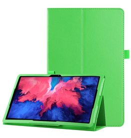 Lunso Lunso - Stand flip sleepcover hoes - Lenovo Tab P11 Pro - Groen
