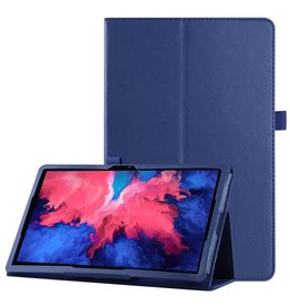 Lunso Lunso - Stand flip sleepcover hoes - Lenovo Tab P11 Pro - Donkerblauw