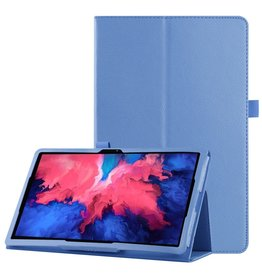 Lunso Lunso - Stand flip sleepcover hoes - Lenovo Tab P11 Pro - Lichtblauw