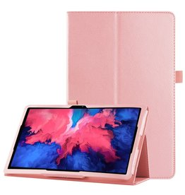 Lunso Lunso - Stand flip sleepcover hoes - Lenovo Tab P11 - Lichtroze