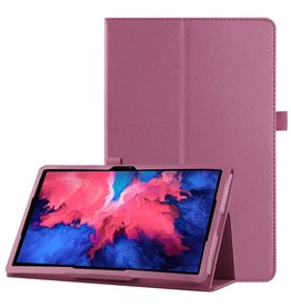 Lunso Lunso - Stand flip sleepcover hoes - Lenovo Tab P11 - Paars