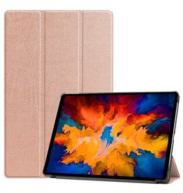 Lunso 3-Vouw sleepcover hoes - Lenovo Tab P11 Pro  - Roze Goud