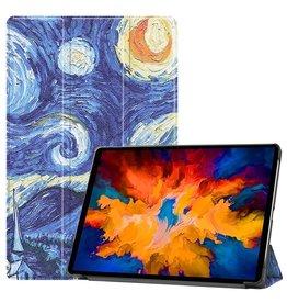 Lunso 3-Vouw sleepcover hoes - Lenovo Tab P11 Pro - Van Gogh Schilderij