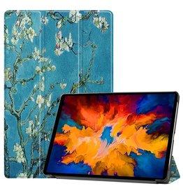 Lunso 3-Vouw sleepcover hoes - Lenovo Tab P11 Pro - Van Gogh Amandelboom