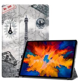 Lunso 3-Vouw sleepcover hoes - Lenovo Tab P11 Pro - Eiffeltoren