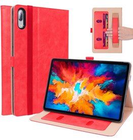 Lunso Luxe stand flip sleepcover hoes - Lenovo Tab P11 Pro - Rood