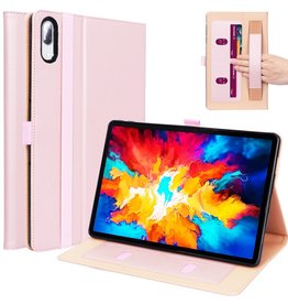 Lunso Luxe stand flip sleepcover hoes - Lenovo Tab P11 Pro - Roze Goud