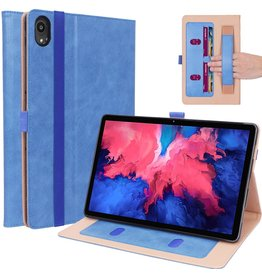 Lunso Luxe stand flip sleepcover hoes - Lenovo Tab P11 - Blauw