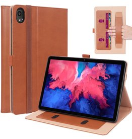 Lunso Luxe stand flip sleepcover hoes - Lenovo Tab P11 - Bruin
