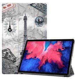 Lunso 3-Vouw sleepcover hoes - Lenovo Tab P11 - Eiffeltoren