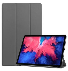 Lunso 3-Vouw sleepcover hoes - Lenovo Tab P11 - Grijs