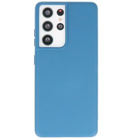 Lunso Lunso - Softcase hoes -  Samsung Galaxy S21 Ultra - Blauw