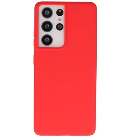Lunso Lunso - Softcase hoes -  Samsung Galaxy S21 Ultra - Rood